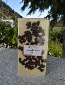 chocolate blanco con arándanos