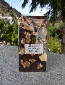 chocolate con manzana, nueces y canela