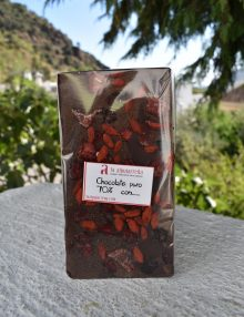 chocolate con frutos rojos