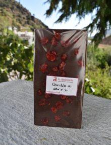 chocolate sin azúcar con cerezas