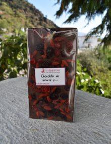 chocolate sin azúcar añadido con frutos rojos